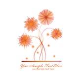 Vector Blumen auf einem weißen Hintergrund lizenzfreie stockfotografie