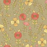 Vector Blumenmuster Lizenzfreies Stockbild