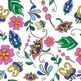 Vector Blumenmuster Nahtloses Muster kann für Tapete, Musterfüllen, Webseitenhintergrund, Oberflächenbeschaffenheiten benutzt wer Stockbilder