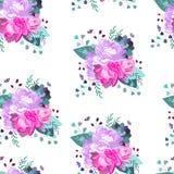 Vector Blumenmuster Sommer, Frühling, Feierentwurf lizenzfreie abbildung