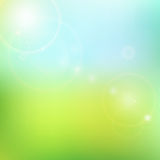 Vector blur blue and green background Royalty Free Stock Images