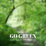 Vector blurred background. Go green and save the Stock Photography