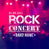 Vector blurred background with rock stage and crowd. vector illustration