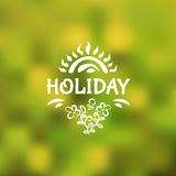 Vector blurred background with the sun, ornamental leaves and fl Royalty Free Stock Photography