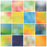 Vector blurred backgrounds - huge pack. Trendy colorfully - boke Stock Photos