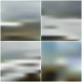 Vector blurred backgrounds set with sea landscape Stock Photography