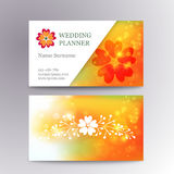 Vector blurred business card template with logo Stock Photography