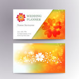 Vector blurred business card template with logo Stock Image