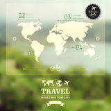 Vector blurred natural landscape.  Map on blurry background. Ide Royalty Free Stock Photos