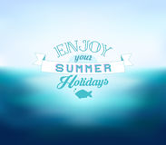 Vector Blurred Sea Background. Enjoy Your Summer Holidays Stock Photography