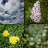 4 Vector  Blurred Summer Backgrounds Royalty Free Stock Photos