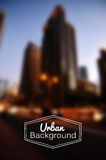 Vector blurred urban background. Night city Royalty Free Stock Photography