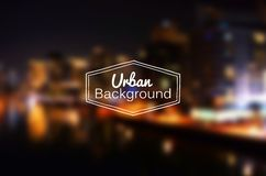 Vector blurred urban background. Night city Royalty Free Stock Image