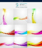 Vector blurred wave abstract backgrounds. Collection of vector blurred wave abstract backgrounds vector illustration