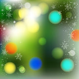 Vector blurred winter abstract background. Christmas tree green Royalty Free Stock Image