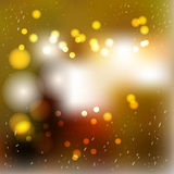 Vector blurred winter abstract background. Lanterns, sparkles  Royalty Free Stock Photo