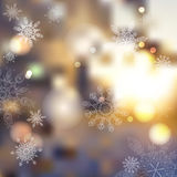 Vector blurred winter abstract background.  sunset, frost Stock Image
