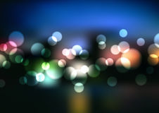 Vector Blurry Lights Stock Image