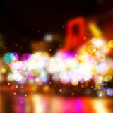 Vector Blurry Lights. Broadway background. Royalty Free Stock Photography