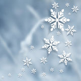 Vector blurry winter background. Stock Image
