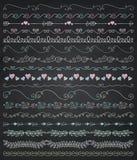 Vector Board Menu Hand Sketched Seamless Borders Royalty Free Stock Photos