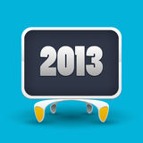 Vector board with number of new year 2013 Royalty Free Stock Photos