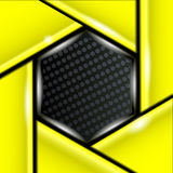 Vector board yellow black background wallpaper Royalty Free Stock Photos