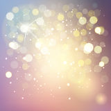 Vector bokeh background, abstract with defocused lights. Stock Photography