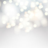 Vector bokeh background. Festive defocused white lights. stock photos