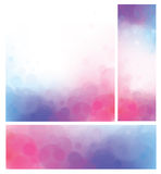 Vector bokeh backgrounds, pink and blue. Stock Photos