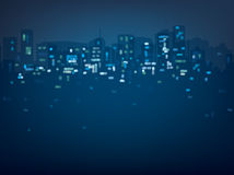 Vector bokeh night city background. Stock Image