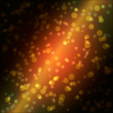 Vector bokeh orange lights. Night background design Royalty Free Stock Images