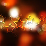 Vector bokeh and stars Christmas theme background Stock Images
