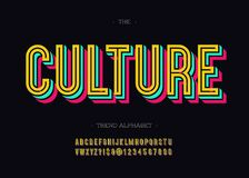 Free Vector Bold Culture Font Trendy Typography Color Style Royalty Free Stock Photography - 131066347