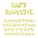 Vector of bold modern font and alphabet royalty free illustration