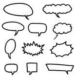 Vector bolhas do discurso ilustração stock