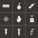 Vector bomb icon set Stock Photo