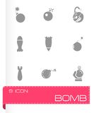 Vector bomb icon set Royalty Free Stock Photo