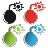 Vector bomb stickers Royalty Free Stock Image