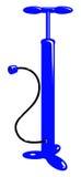 Vector a bomba de ar azul da bicicleta ilustração stock