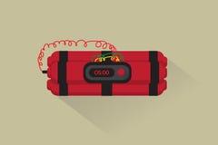 Vector: bomba de relojería plana Fotos de archivo libres de regalías