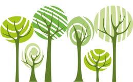 Vector bomen Stock Afbeelding