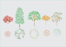 Vector bomen Stock Fotografie