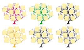 Vector bomen met memoranda vector illustratie
