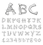 Vector Bones Alphabet  Set. Stock Photography