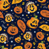 Vector Boo Pumpkins Halloween Seamless Pattern Fotografía de archivo
