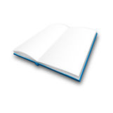 Vector book. Vector opened blank book on white background Stock Photo