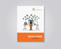 Vector book and brochure flyer cover template design.editable Stock Image