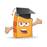 Vector Book Graduation Mascot Illustration Royalty Free Stock Images