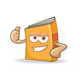 Vector Book Happy Mascot Illustration Stock Images